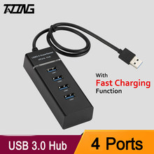 TATING USB 3.0 HUB 4 ports High Speed Splitter Expansion For Desktop PC Laptop Adapter USB 3.0 HUB with Fast Charging Function