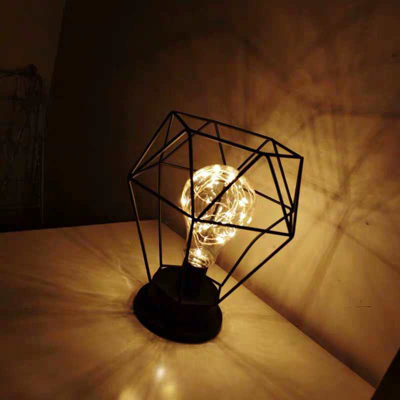 Vintage LOFT Color Iron Led Table Lamps Bedroom Desk Lamp Edison Bulb USB Table Light Bedside Battery Reading Office Desk Lights