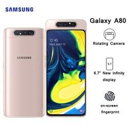 Мобильный телефон Samsung Galaxy A80 4G Android мобильный телефон 8 Гб 128 ГБ 6,7