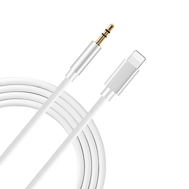 Lighting To 3.5mm <font><b>Jack</b></font> Audio Extension Cable Aux Cord for <font><b>IPhone</b></font> 11 Pro XS Max XR X 10 8 7 Plus Car Speaker Headphone Connector image