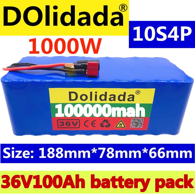 2020 Original 36V batterie 10S4P 100Ah batterie pack 1000W haute puissance batterie 42V 100000mAh Ebike vélo électrique BMS + 42V2A chargeur - 2