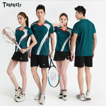Nuevas camisetas de tenis, camiseta de tenis de mesa, camisas de bádminton para hombre/mujer, camisa deportiva, camisetas de entrenamiento físico deportivo, camisetas de tenis de secado rápido