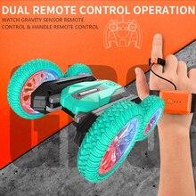 Kids Robot RC Cars Toys 2.4G Stunt Drift Deformation Buggy Car carrinho controle remoto Remote Control Roll Car 360 Degree Flip