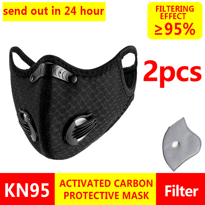 2pcs/lot KN95 Anti COVID----19 Anti Virus Protective Mouth Mask Respirator 5 Layers Protection Mask Face Mask F-fp3