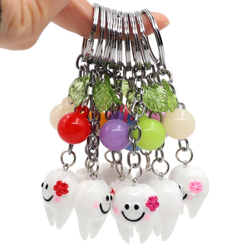 3pcs/5pcs Dental Gift Teeth Model Simulation Tooth Key Chain Decorative Accessories Pendant Key Chain Dentist Teeth Gift