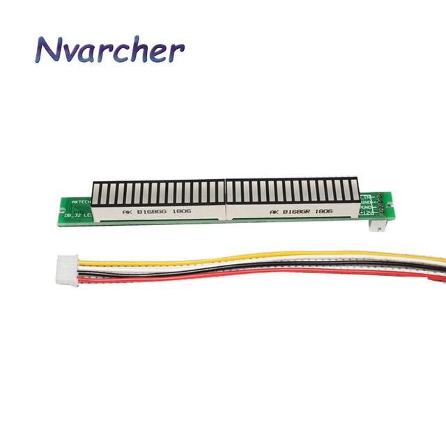 Стереоусилитель Singel, 32 уровня, VU метр, плата, индикатор музыкального спектра, Регулируемый светильник с AGC