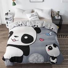 Svetanya 1pc Copripiumino 100% Trapunta di Cotone Trapunte Coperta Caso di Bambini Del Panda Del Fumetto Stampato