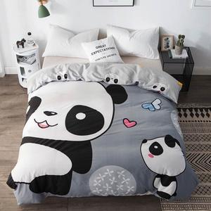 Image 1 - Svetanya 1pc Duvet Abdeckung 100% Baumwolle Quilt Tröster Decke Fall Kinder Cartoon Panda Gedruckt