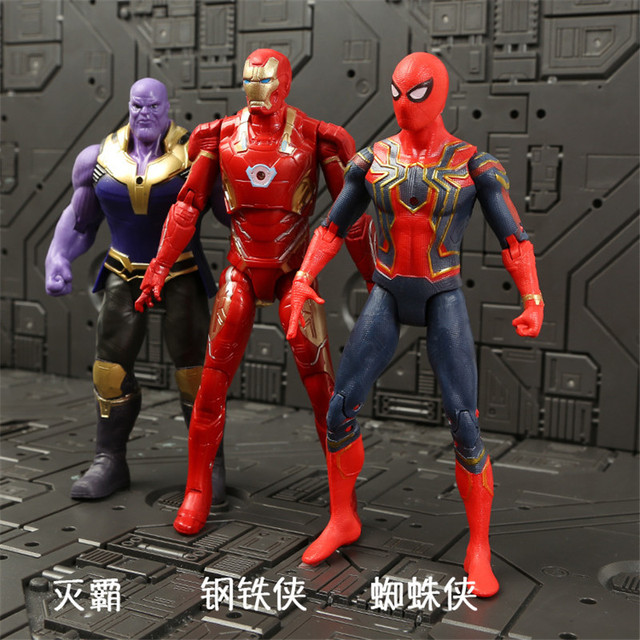 Marvel Avengers 3 Infinity War Movie Anime Super Heros Spiderman Captain America Iron Man Hulk Thor Superhero Action Figure Toys 4