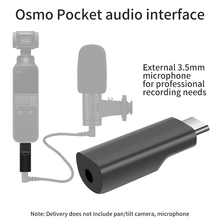 3.5mm Mic Adapter for DJI Osmo Pocket Audio Interface Microphone Adapter for osmo Pocket Accessories