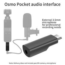 Adaptateur de micro 3.5mm pour DJI Osmo adaptateur de Microphone dinterface Audio de poche pour accessoires de poche osmo