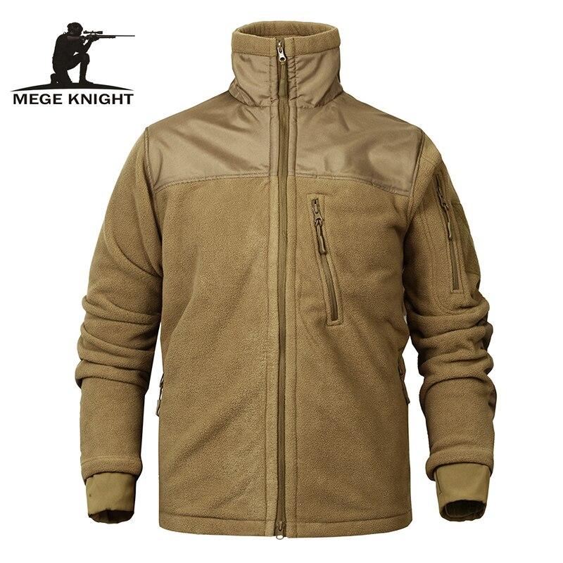 Mege ブランド戦術フリースジャケットミリタリー軍の服メンズジャケットコート冬暖かい厚手ジャケットドロップシッピング
