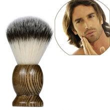 ZY 100%-brocha de afeitar de pelo de tejón puro para hombre, herramienta de barbero para salón, color marrón, D40, 1 Uds.