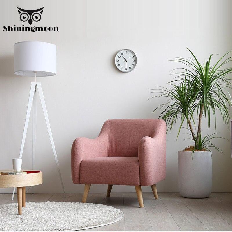 Silla moderna de madera maciza rosa para Hotel, sofá, silla de café de tela nórdica, silla de dormitorio, muebles de estudio, sillón, sillas de restaurante Funda de alta calidad para sofá, mobiliario, sillón, moderno sofá para sala de estar, funda de sofá elástica, funda de sofá de algodón de 1/2/3/4 plazas