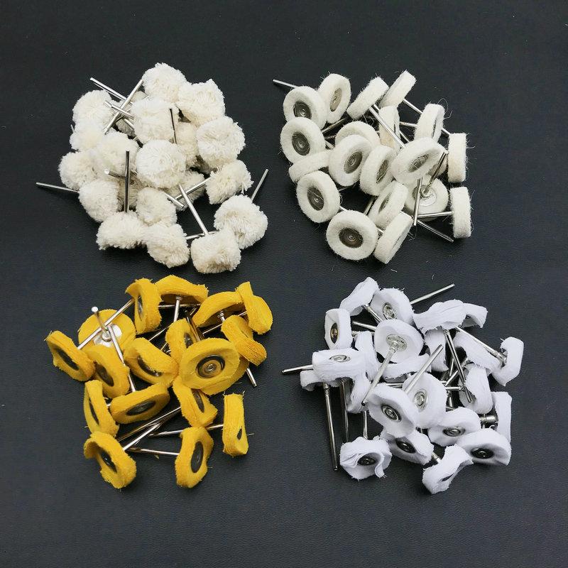 50pcs Dental Wool Polishing Wheel Buffing Pad Brushes For Low Speed Rotary
