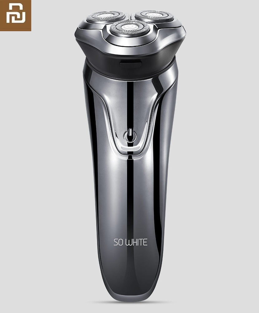 Youpin New SO WHITE 3D Intelligent Razor Intelligent Three-knife Body Wash USB Fast Charge Electric Shaver