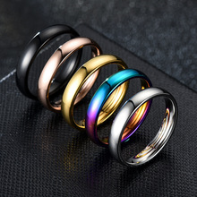 Rings for Wedding-Jewelry Stainless-Steel Black Gold Women Gift Colorful DH0235 New-Arrival