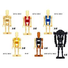 General robot grievous com sabre de luz batalha droid modelo blocos de construção enligthen figura ação brinquedos para crianças