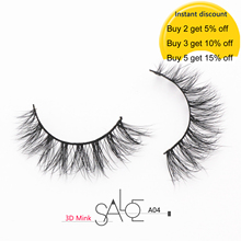 Natural 3D Mink Lashes False Eyelashes Wispy Cross Fluffy Mink Lashes Extension Tools Makeup Handmade Mink Eyelashes Beauty A04
