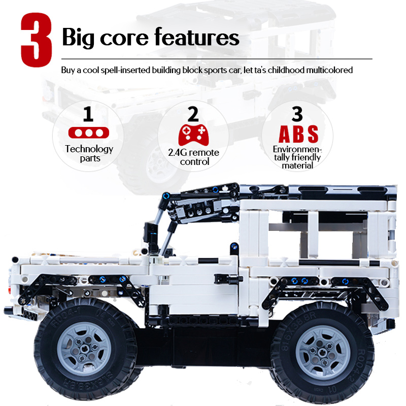 Cada 533Pcs Defender Remote Control Car Building Blocks For Technical RC Car Model SUV City Brick Toys For Children Boys