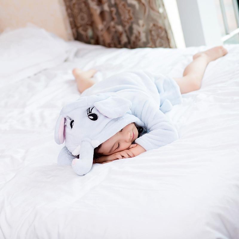 Children Autumn & Winter Coral Velvet Night-robe Bathrobe Boy Girls GIRL'S BOY'S Baby Flannel Pajamas