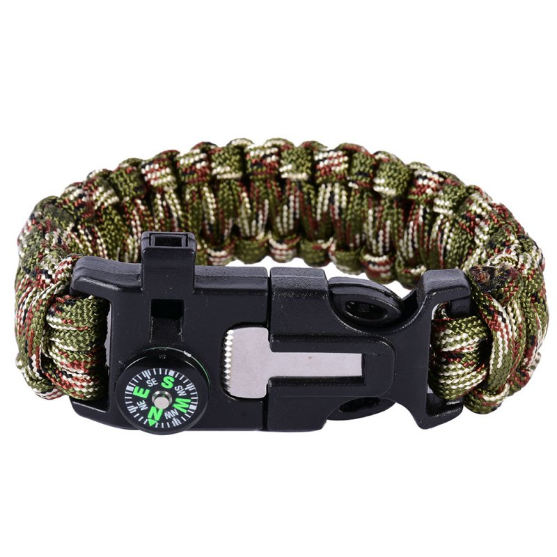 Unisex Ordinary Woven Bracelet Outdoor Digital Camouflage With Compass Bracelet