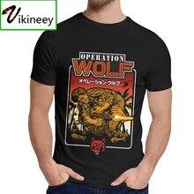 Hombre Camiseta Vintage juego de Arcade operación lobo lindo algodón Collar redondo de ocio Retro de La Camiseta