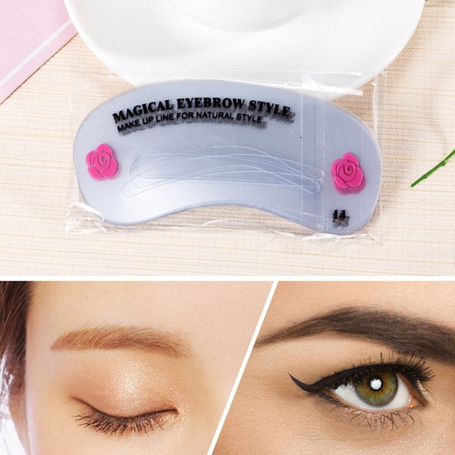 1Set Reusable Eyebrow Stencil Set Eye Brow DIY Drawing Guide Styling Shaping Grooming Template Card Easy Makeup Beauty Kit 5