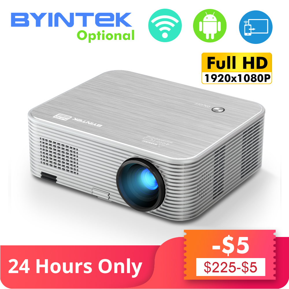 Byintek lua k15 hd completo 1080 p android wifi led 1920x1080 lcd projetor de vídeo para iphone smartphone