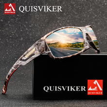 Camouflage Sport Fishing glasses Rayed Sun glasses ciclismo Goggles Outdoor Polarized Sunglasses Men Women Fish Eyewear cheap QUISVIKER CN(Origin)