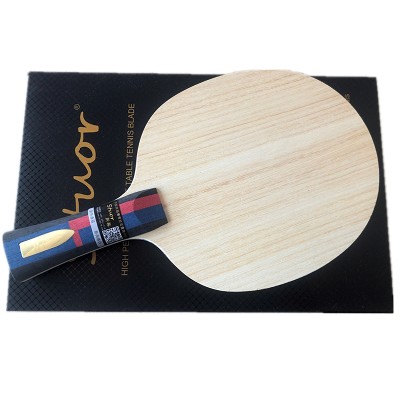 Stuor Lin Gaoyuan 7Plys Arylate Carbon Fiber Table Tennis Blade  Ping Pong Racket Fast Attack Table Tennis Accessories Gold Logo
