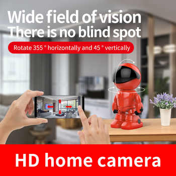 WIFI Camera IP 1080P HD indoor Human Detect Night Vision 355 Degree Tracking camera Celebritie Network Gimbal Video surveillance
