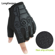 Армейские военные тактические перчатки на полпальца мужские