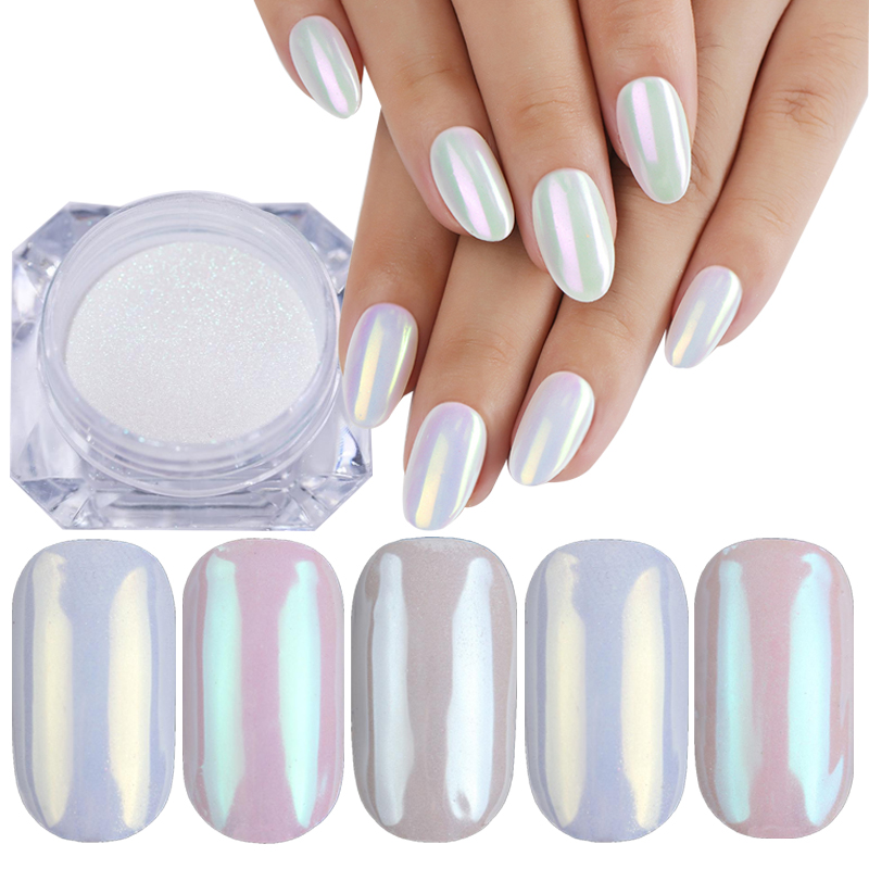 1g Pearl Powder Nail Art Glitter Mirror Shimmer Effect Chrome Pigment UV Gel Polish Shimmer Dip Dust DIY Nails Decoration