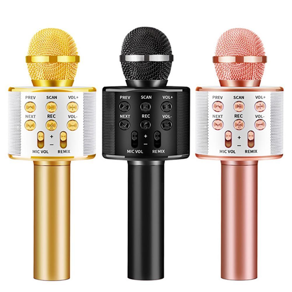 WS858 микрофон Bluetooth беспроводной USB WS 858 Профессиональный динамик Ktv мобильный телефон плеер микрофон Запись музыки