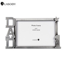 Design Vintage Sturdy Alloy Photo Frames DAD Picture Frame 4x6 inch Photo Gift for Father, Family, Display on Tabletop, Desk giftgarden 5x7 silver alloy classic crown photo frames vintage picture frame table decoration anniversary gift wedding decor