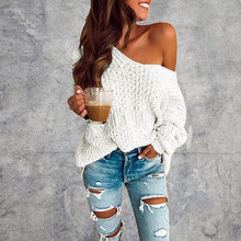 womens sweaters loose sweater Women's Fashion Casual Slim Fit Long Sleeve Stripe V-neck Knitted Sweater Tops Y828 womens casual o neck sweater knitted loose long sleeve tops slim fit pullover