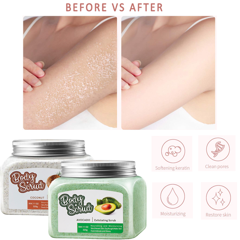 CCPT 1 Set=2 Piece Body Exfoliator Scrub Cream For  Exfoliating Whitening Brightening Peeling Cream Skin Care Women And Men