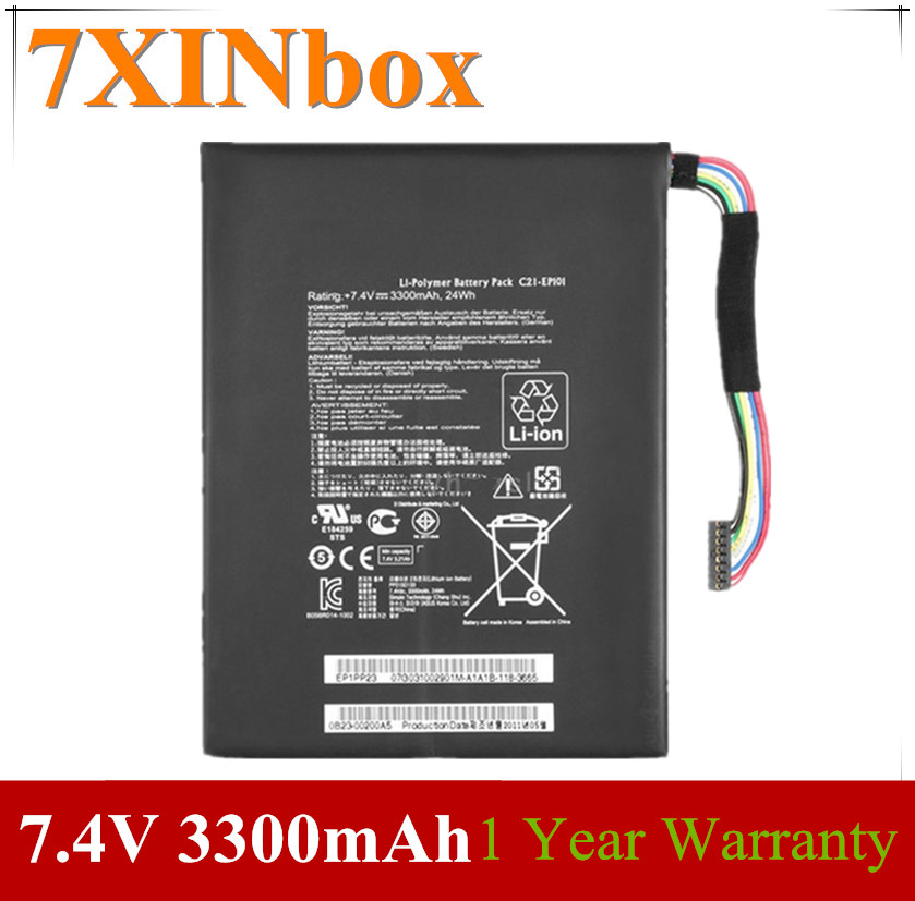 7XINbox 7.4V 3300mAh Original C21-EP101 Laptop Battery EP101 For Asus Eee Pad Transformer TF101 TR101 TF101 Mobile Docking