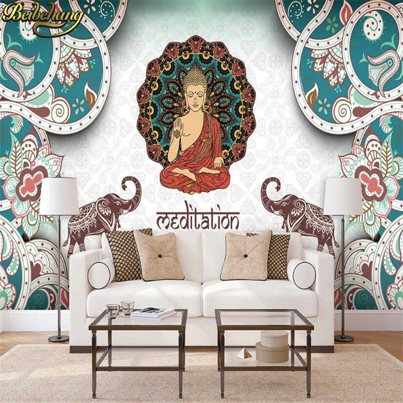 Beibehang Papel De Parede Large Mural Yoga Southeast Asian Style Restaurant Wallpaper Mural The Hindu God Shiva Wallpaper Floor Wallpaper Floor Large Muralwallpaper Mural Aliexpress