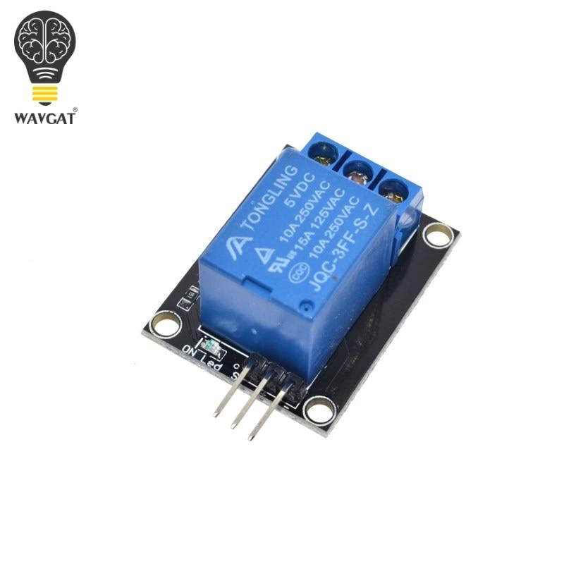 Livraison gratuite 1 canal 5V relais Module pour arduino 1 canal relais KY-019 pour PIC AVR DSP bras pour Arduino WAVGAT