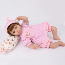 Very light and soft Silicone Reborn Dolls For girls XMAS Gifts real bebe reborn Doll Baby 41 cm Kindergarten game toys