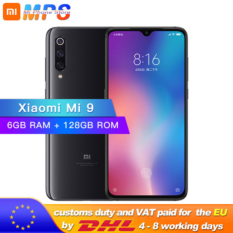"Global ROM Xiaomi Mi 9 Mi9 6GB 128GB ROM Smart Phone Snapdragon 855 Octa Core 6.39"" 48MP Triple Camera In Display Fingerprint"