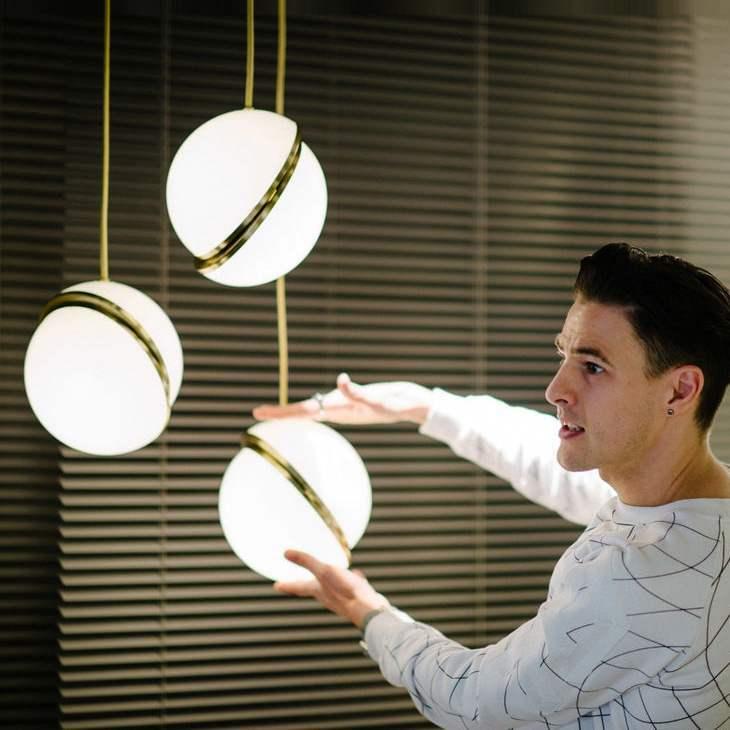 Modern Lamp Northern Europe Bar Counter Restaurant Lamp Round Ball Hallway Balcony Display Window Exhibition Room A Chandelier