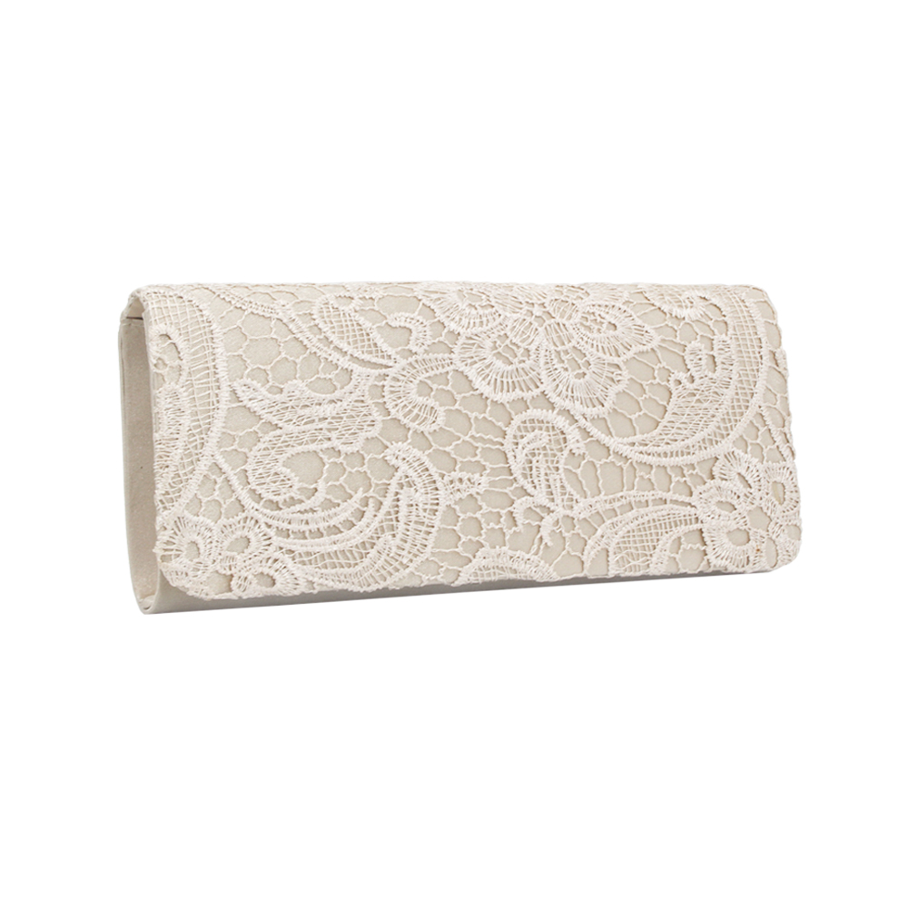 Clutch-Bags Evening-Bag Decent Lace Flower-Pattern Wedding Special-Event Popular Woman title=