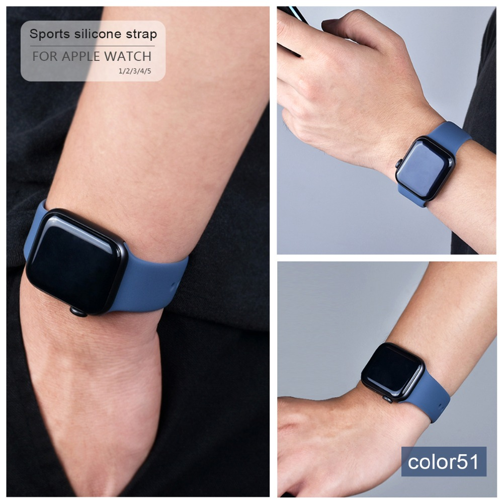 Soft Silicone Band for Apple Watch 91