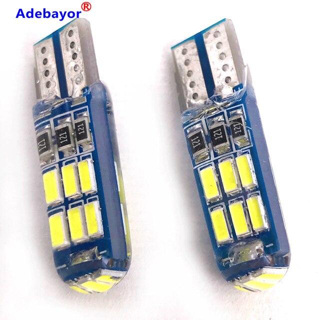 600x 새로운 자동차 T10 4014 15 LED 전구 W5W 194 화이트 실리콘 15SMD 자동차 인테리어 전구/번호판 라이트 독서 라이트 실리카 get
