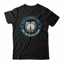 Novo 8721 cameron boyce vamos acabar com a crise de água camiseta tamanho S-5XL camiseta estilo verão casual wear