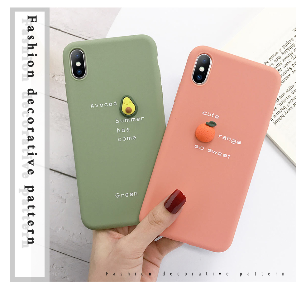 decorative 3D Candy Color Soft Phone Case for iPhone