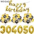 30th 40th 50th 60th Latex Konfetti Ballon Glücklich Geburtstag Party Dekorationen Erwachsene 30 40 50 60 Jahre Glücklich Geburtstag Lieferungen